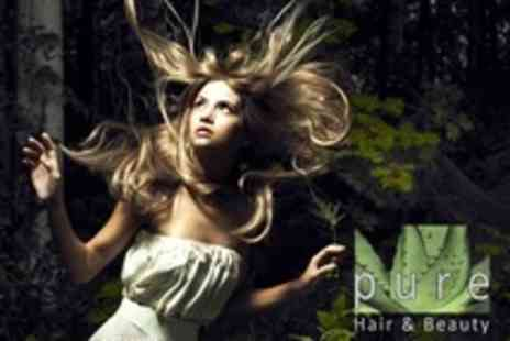 Pure Hair and Beauty - Full Head Colour or Half Head Highlights With Cut and Blow Dry - Save 57%