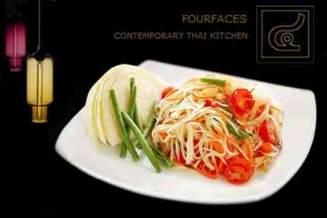 Four Faces - Two Course Thai Meal Including Rice For Two - Save 67%