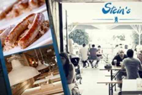 Steins - Bavarian Beer and Sausages For Two - Save 56%