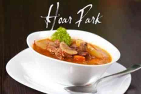 Hoar Park - Homemade Beef Stew and Dumplings With Pudding For Two - Save 62%