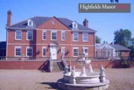 Highfields Manor and Spa - In  Leicestershire Two Night Manor House Rental For Up to 23 or 31 People - Save 50%