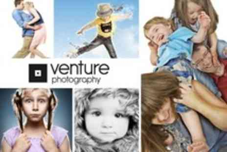 Venture Photography - Family Photoshoot For Up to 20 People With 10 x 8 Framed Image - Save 94%