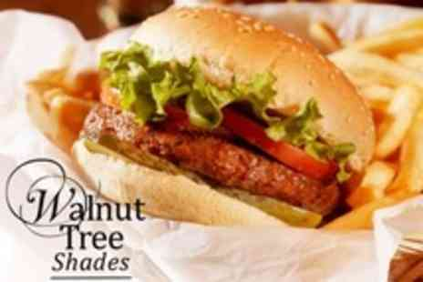 The Walnut Tree Shades - Two Course Burger and Dessert  Meal - Save 64%