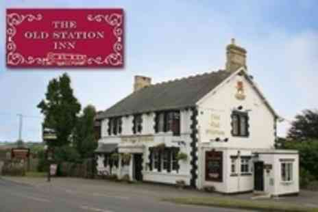 The Old Station Inn - In Somerset One Night Stay For Two With Bottle of Wine - Save 42%