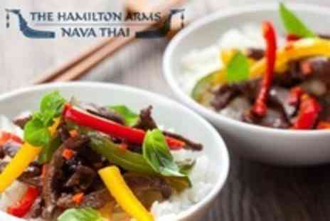 The Hamilton Arms Nava Thai - Two Course Thai Meal For Two - Save 54%