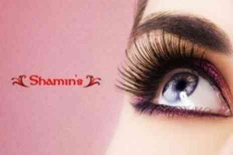 Shamins - Eyelash Extensions with Tint, Plus Brow Thread and Tint - Save 60%