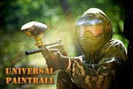 Universal Paintball - Paintballing For One People Plus 100 Paintballs and Lunch - Save 80%