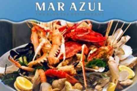 Mar Azul - Choice of Seafood Platter Including Lobster with Bottle of Wine and Salad - Save 61%