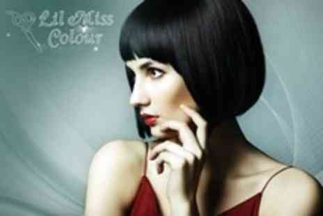 Lil Miss Colour - Full Colour With Foils, Conditioning and Head Massage - Save 60%
