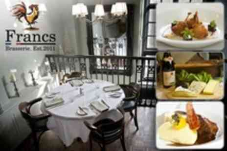 Francs Brasserie - Four French Fine Dining Courses For Two - Save 51%