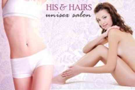 His and Hairs Unisex Salon - Three Laser Lipolysis Sessions - Save 50%
