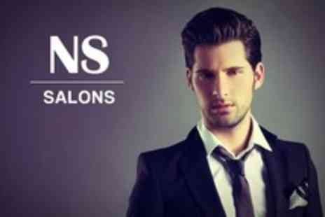 NS Salons - Mens Cut and Finish - Save 73%