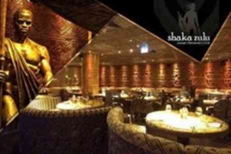 Shaka Zulu - Essence of Africa Three Course Meal With Cocktails For Two - Save 65%