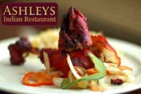 Ashleys Indian Restaurant - Two Course Indian Meal With Rice or Naan For Two - Save 54%