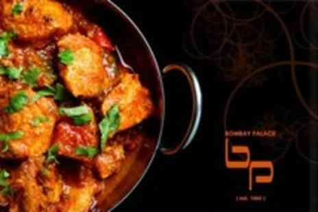 Bombay Palace - Three Course Indian Meal With Rice and Naan For Two - Save 60%
