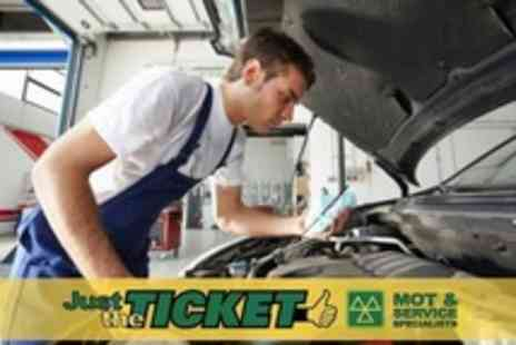 Just The Ticket - MOT Test With Minor Repairs Plus Fluid - Save 60%
