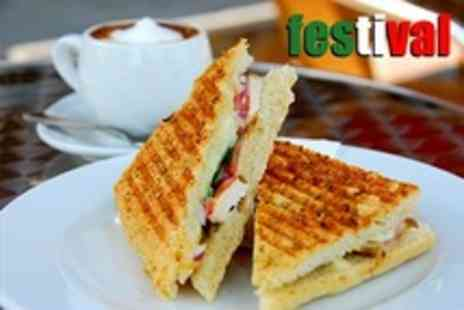 Festival - One Panini and Hot Drink  - Save 54%