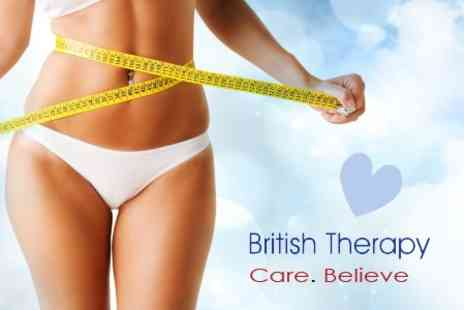 British Therapy - Three Sessions of Gastric Band Hypnotherapy - Save 78%