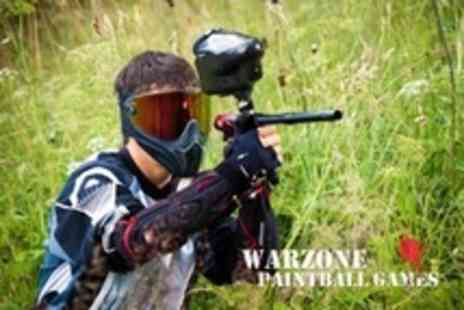 Warzone Paintball - Paintballing For One, Five or Ten With 100 Paintballs and Hot Lunch Each - Save 70%