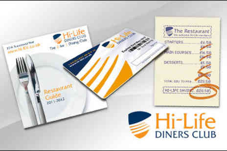 Hi-Life Diners Club - £18 for a year's membership, enjoy two for one dining at over 3,000 Michelin starred restaurants - Save 64%