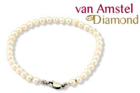 Van Amstel Diamond - Sweet Water Pearl Jewellery Bracelet - Save 83%