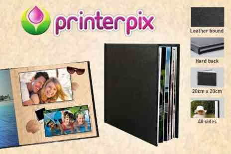 Printerpix - Leather Bound 20cm x 20cm Personalised Photo Book - Save 77%