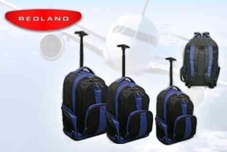 Redland Luggage - Three Piece Trolley Set With Backpack Straps - Save 64%