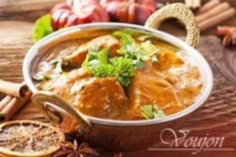 Voujon - Two Courses of Indian Cuisine For Two - Save 52%