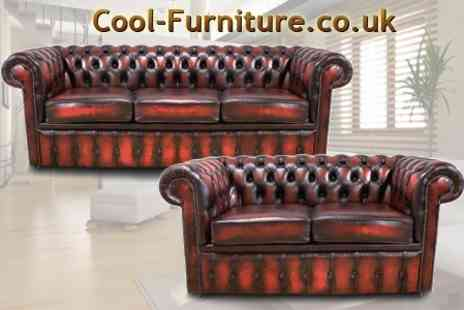 cool-furniture.co.uk - Leather Chesterfield Two Seater - Save 67%