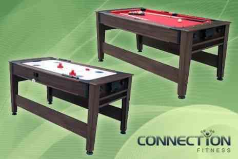 Connection Fitness - Six Foot Pool and Air Hockey Table - Save 58%