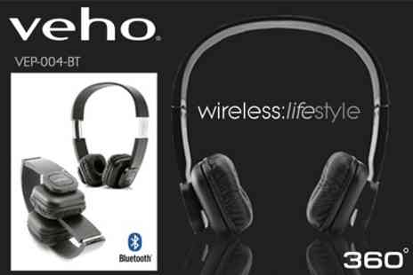 Veho UK - Pair of Bluetooth Wireless Headphones - Save 0%
