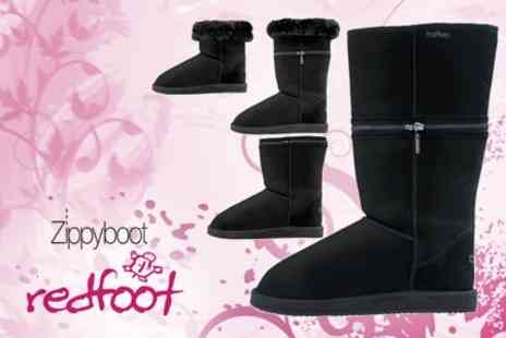 Redfoot Shoes - Zippyboots Cosy Sheepskin Boots - Save 59%