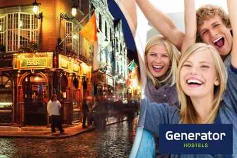 Generator Hostel Dublin - Two Night Stay for Two Including Breakfast, Walking Tour and Guinness - Save 50%