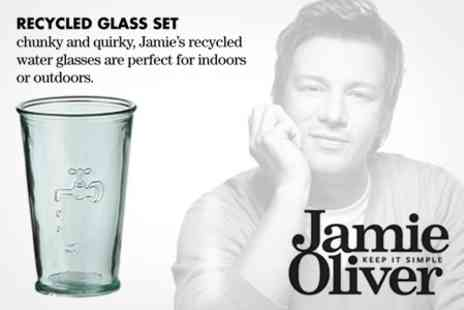 Merison UK - Jamie Oliver Set of Six Recycled Glasses - Save 50%