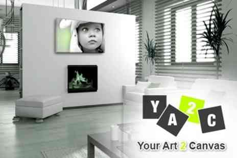 Your Art 2 Canvas - Personalised Canvas Prints - Save 68%