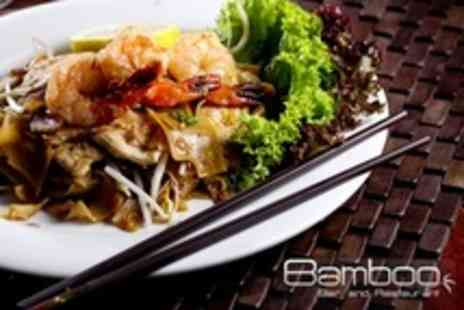 Bamboo Bar and Restaurant - Three Course Asian Fusion Meal For Two - Save 53%