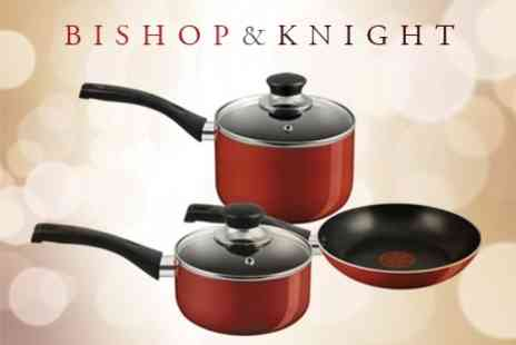 Bishop & Knight - Three Piece Tefal Non Stick Pan Set - Save 0%