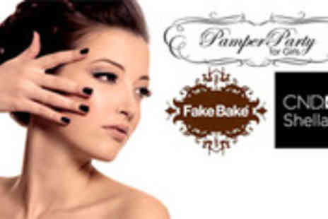 Pamper Party for Girls - Shellac Manicure and Fake Bake Spray Tan - Save 50%