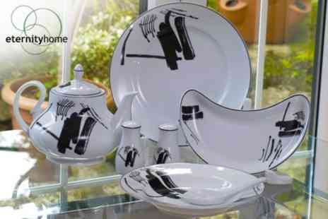 Eternity Home - Abstract 68 Piece Dinner Service Set - Save 72%