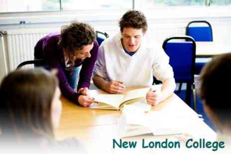 New London College - Choice of One Year Intensive AS or A Level Course - Save 72%
