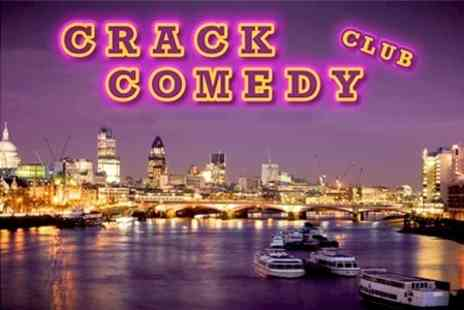 Crack Comedy Club - Comedy Night For Two With Drinks - Save 74%
