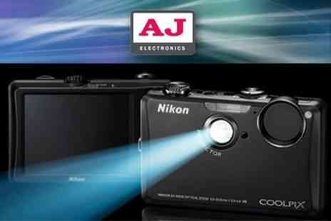AJ Electronics - Black Nikon COOLPIX S1100PJ Projector Camera With Nikon Case and 4GB Memory Card - Save 50%