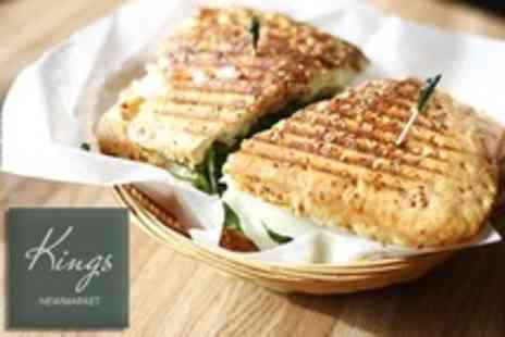 Kings Restaurant - Panini and Dessert For Two - Save 60%