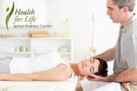 Health for Life - Chiropractic Three Treatments With Consultation and Health Talk - Save 13%