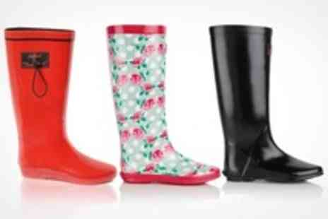Clever Pretty Shoes - One Winter Folding Wellington Boots in Choice of Designs - Save 75%