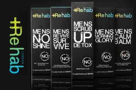 Rehab London - Mens Moisturiser, Day Cream and Shave Balm For Normal to Dry Skin or Normal to Oily Skin - Save 56%
