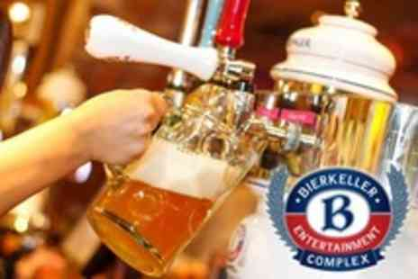 Bierkeller - Entry to Bierkeller Entertainment Complex, Sharing Platter With Beer Pints and Steins For Two - Save 49%