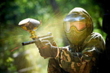 Horizon Paintball - Day paintballing for 5 people inc light lunch & 50 balls each - Save 90%
