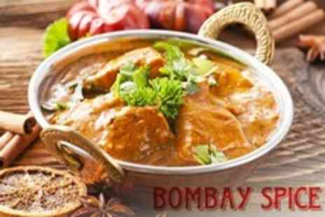 Bombay Spice - Two Course Meal With Wine For Two or Four - Save 61%