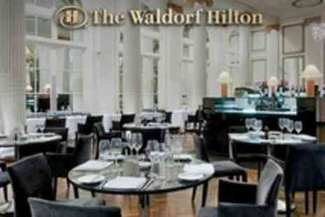 The Waldorf Hilton - The Waldorf Hilton Three Course Meal With Champagne Cocktail For Two or Four - Save 51%